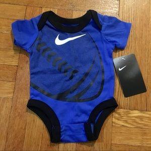 NEW! Nike Baby Football Blue Short Sleeve Bodysuit